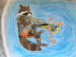 Rocket Raccoon by Ag3ntAn0nym0us