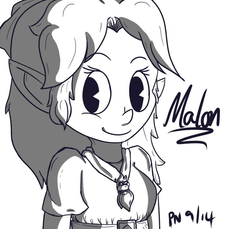 Zelda: Malon by Purple-Neon