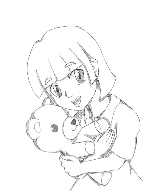 Hugging Teddy Bear by redrose-yat on DeviantArt