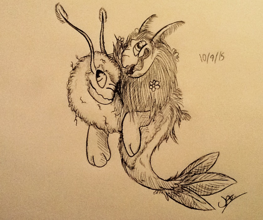 Daffodil and Daisy Inktober Challenge: 10/9/15 by ZeldaWolf7