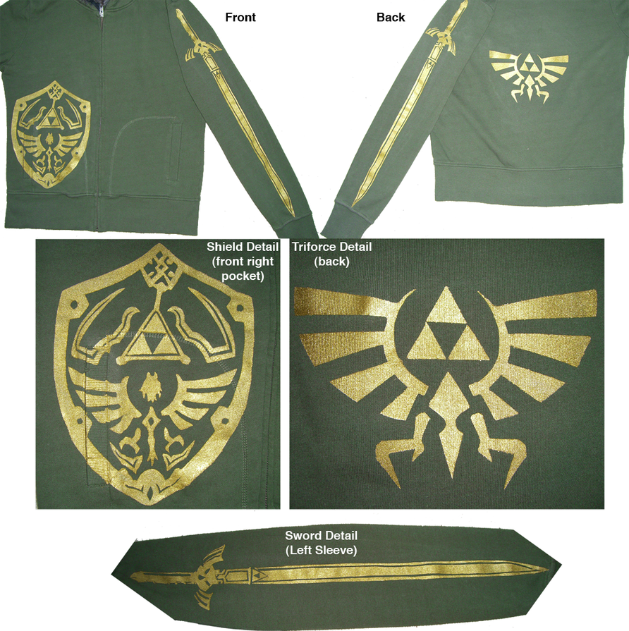 Triforce Jacket by one-crazy-fox