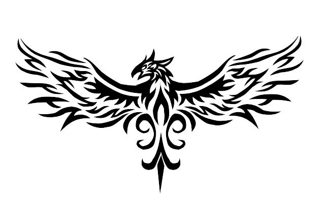 phoenix tribal tattoo by vauvenal on deviantart. Black Bedroom Furniture Sets. Home Design Ideas