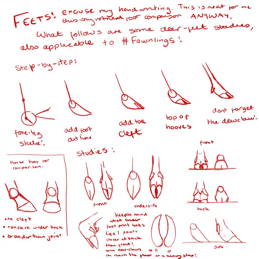 OLD TUTORIAL: Deer Feets by TigressDesign