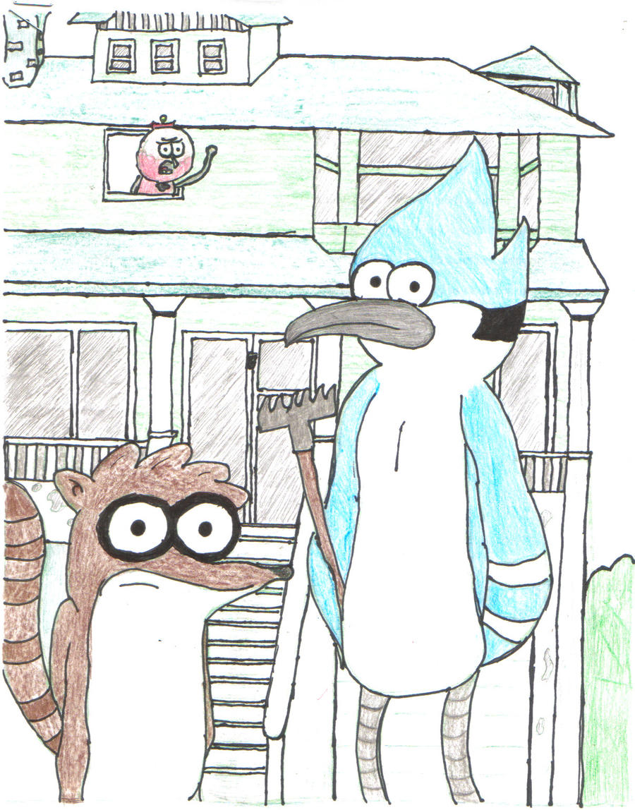 Parody American Gothic Regular Show Colored By Sorain Chan