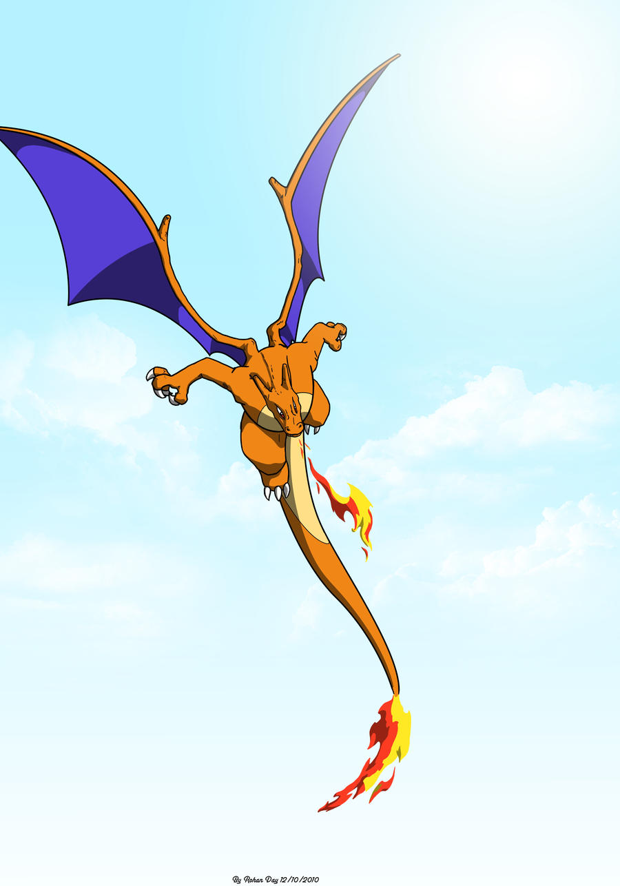 Charizard In Flight By Captaincabbage On Deviantart