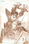 Nightwing and Batgirl Pencils