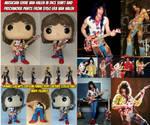 Eddie Van Halen Patchwork Pants and Dice Shirt