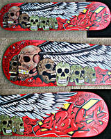 Skateboard deck, Worst, graffi by JeremyWorst