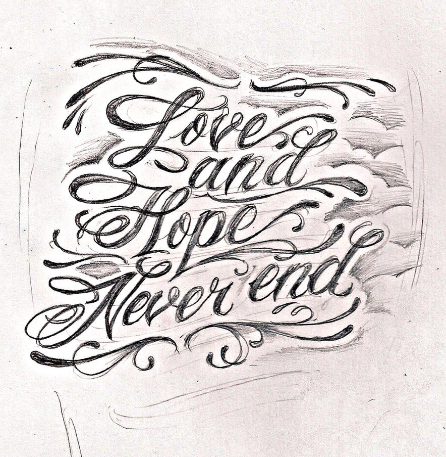 Tattoo script lettering by jeremyworst on deviantart