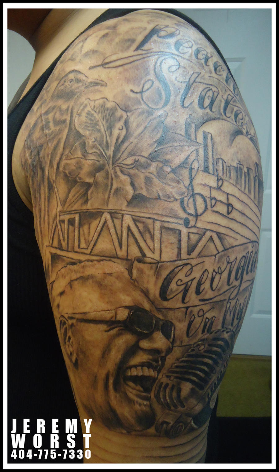 Georgia on my mind tattoo by jeremyworst on deviantart for Tattoo shops in georgia