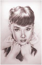 Audrey Hepburn Sketch by Jeremy Worst by JeremyWorst