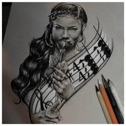 Jhene Aiko Sketch by Jeremy Worst by JeremyWorst