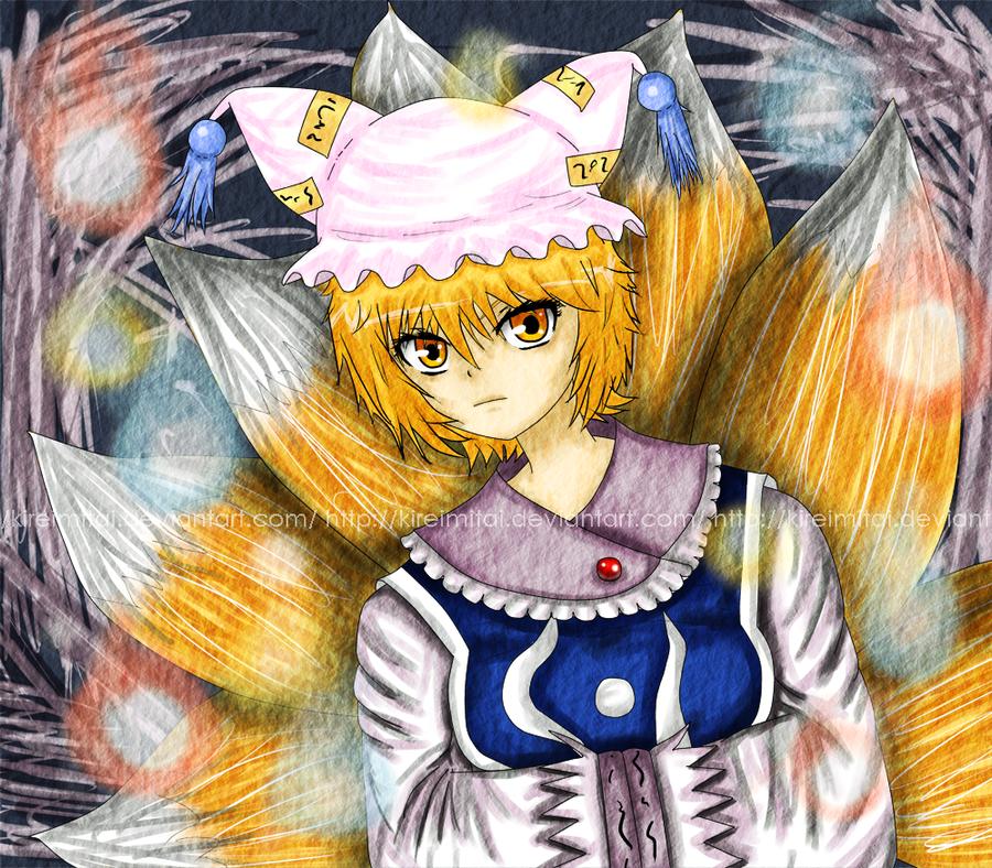 Cereal's Touhou fan-art Touhou_project__ran_yakumo_by_kireimitai-d4kdjh2