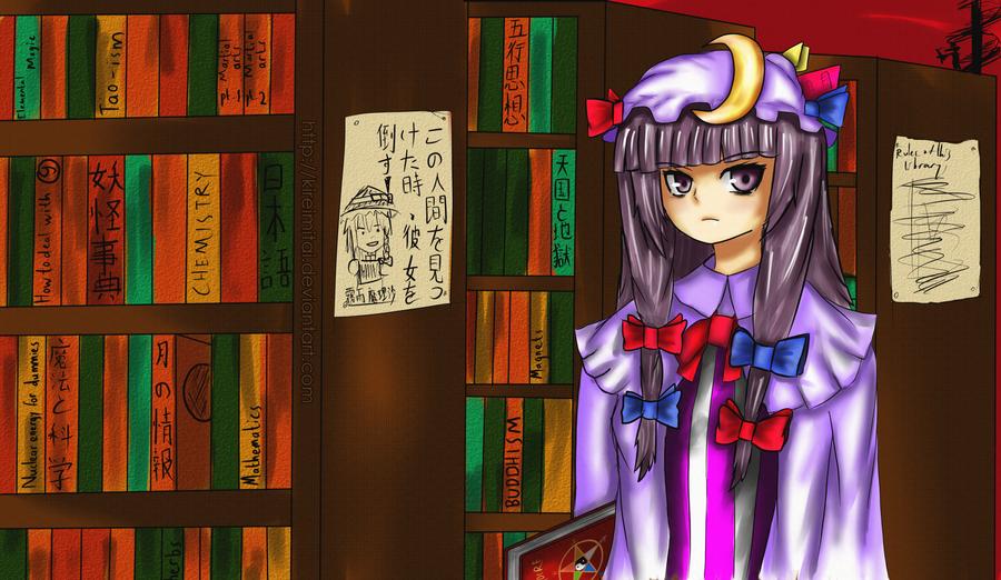 Cereal's Touhou fan-art Touhou_project__patchouli_knowledge_by_kireimitai-d4n9u7q