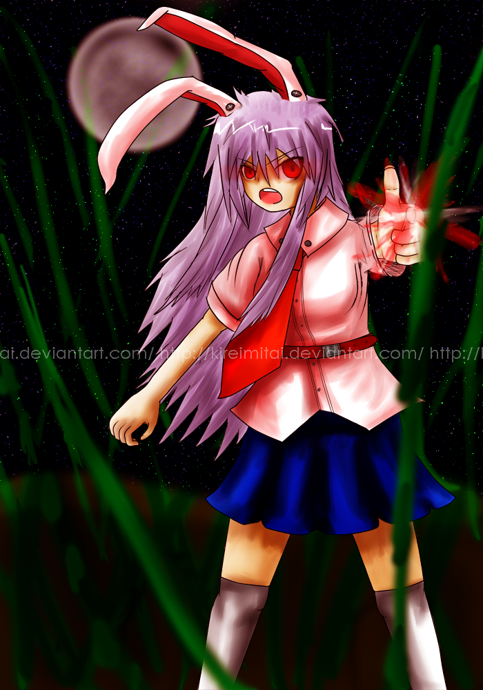 Cereal's Touhou fan-art Touhou_project__reisen_udongein_inaba_by_kireimitai-d4nuu1k