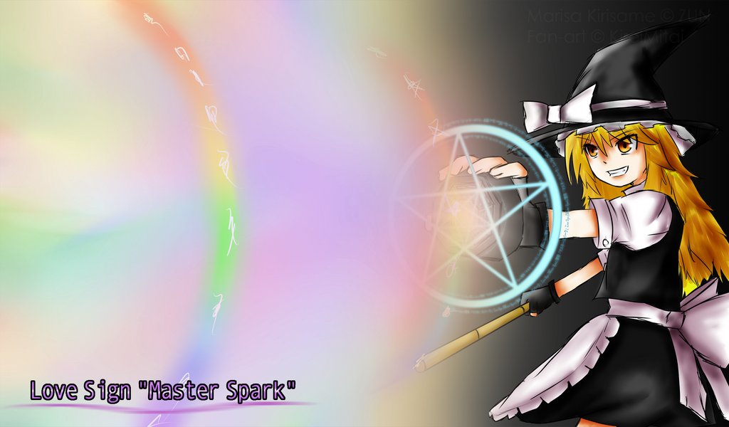 Cereal's Touhou fan-art Love_sign___master_spark___by_kireimitai-d4q9eqt