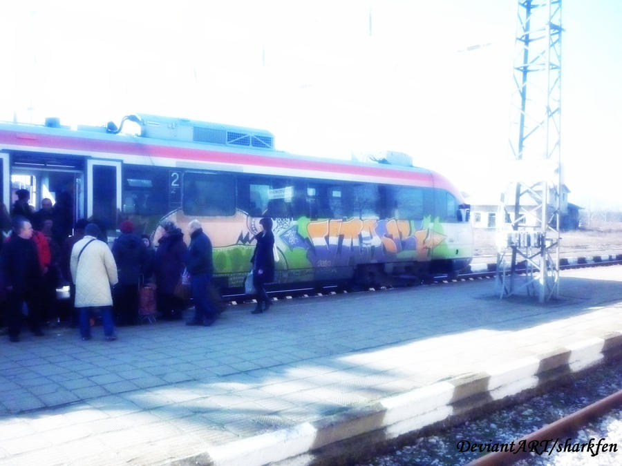 Departure to Sofia with train by sharkfen