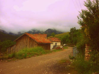 fog over the village by sharkfen