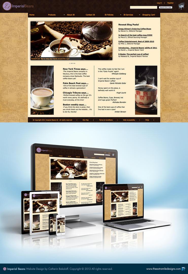 Imperial Beans Website Design By Kit7kat On Deviantart