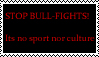 STOP BULL FIGHTS stamp by Ucaliptic