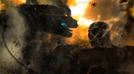 Godzilla VS Titan: SURPRISE MOTHERFCKER