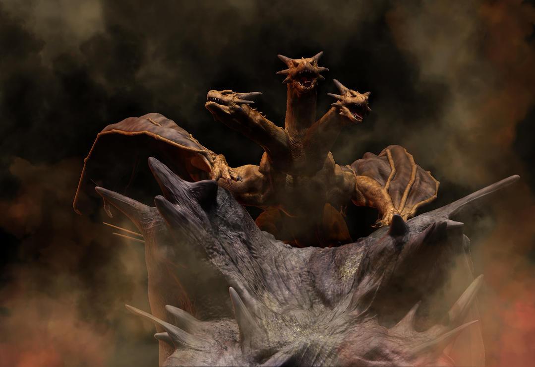 King Ghidorah 2 by Ucaliptic