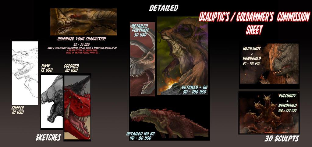 Ucaliptic Commission sheet by Ucaliptic
