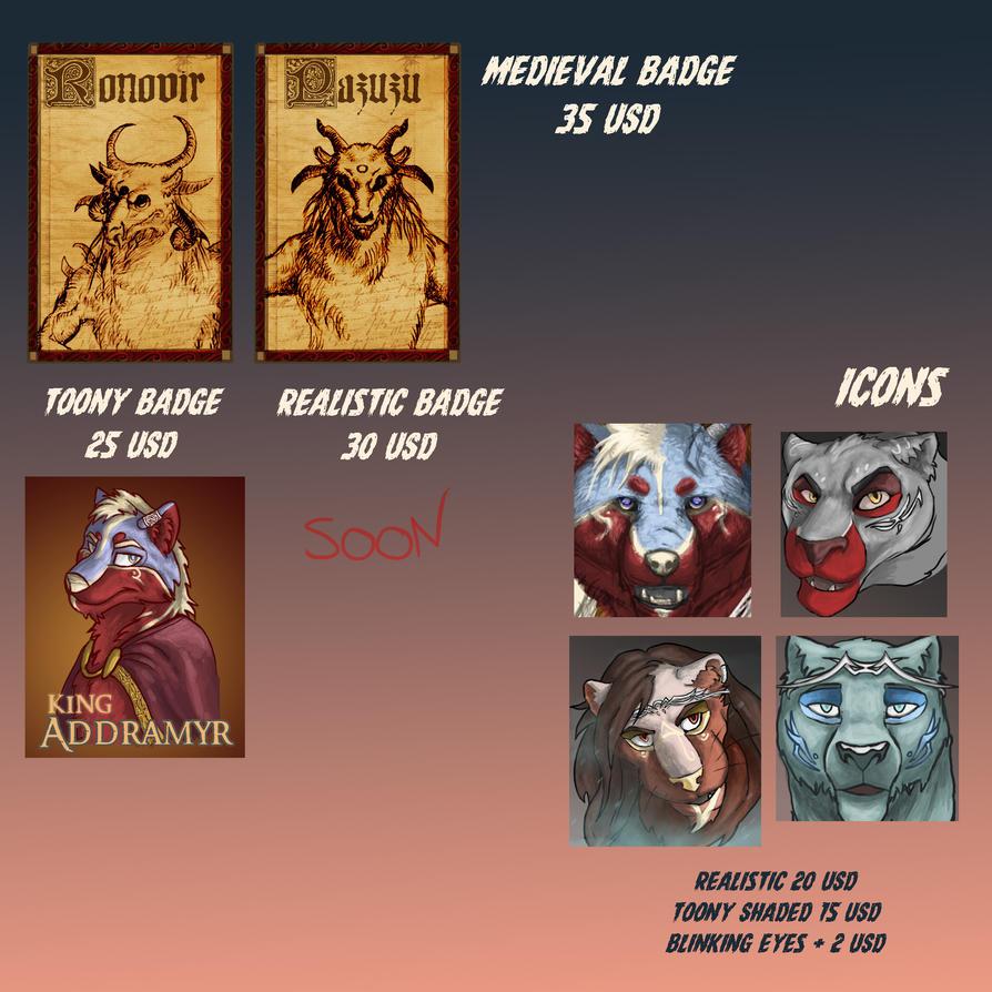 Badges icons sheet by Ucaliptic