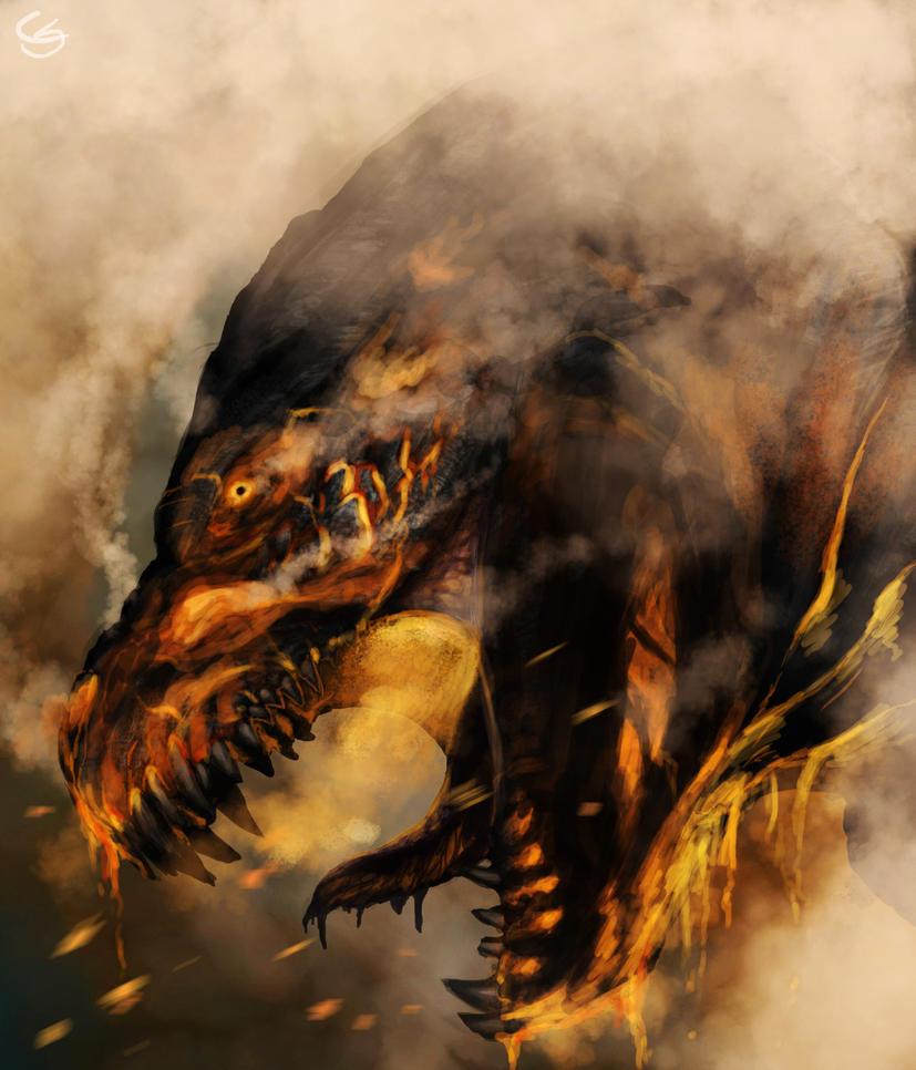 Godzilla's death by GoldammerArt on DeviantArt