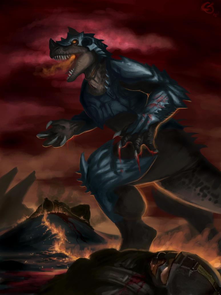 Grim full illustration by Ucaliptic