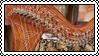 Celtic harp stamp #1 by GoldammerArt
