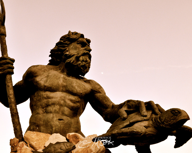 Antique Neptune - Neptune Statue - Virginia Beach by ...