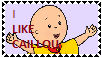 Caillou Stamp/First Stamp I Ever Made by WillM3luvTrains