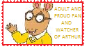 Arthur Read Stamp 2 by WillM3luvTrains