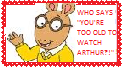 Arthur Read Stamp 03 by WillM3luvTrains