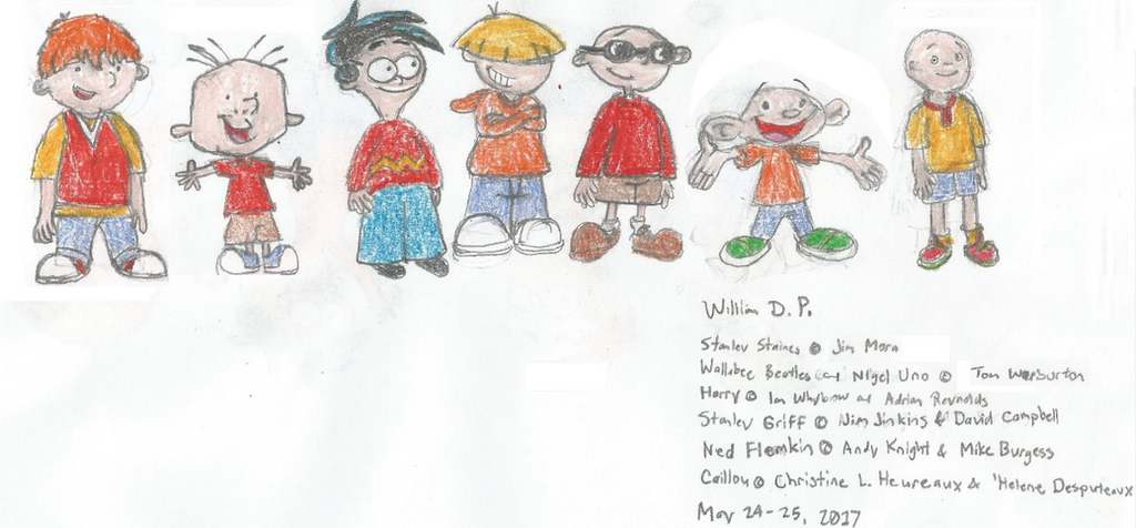 Stanley Wallabee and other Boy Cartoon Characters by ...