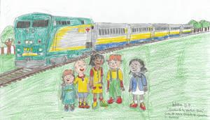 Caillou and Friends and a Via Rail Train