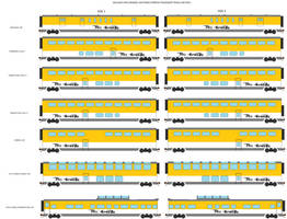 Rio Grande Lightning Express Passenger Car Pack by WillM3luvTrains