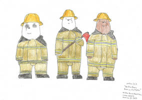 We Bare Bears Bears as Fire Fighters