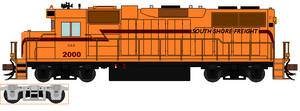 South Shore Freight Locomotive by DAE