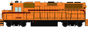 South Shore Freight Locomotive (DAE) Larger