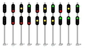 Railroad Block Signals 3 on 3 Version 3