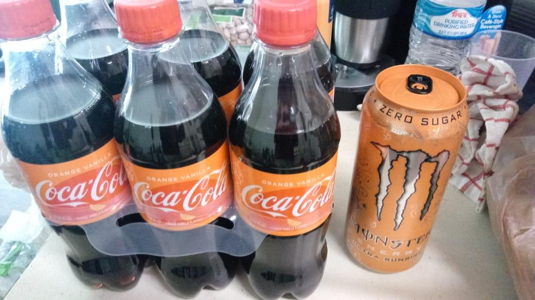Orange Vanilla Cola, Ultra Sunrise Monster Energy