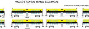 Hawkeye Express Passenger Cars