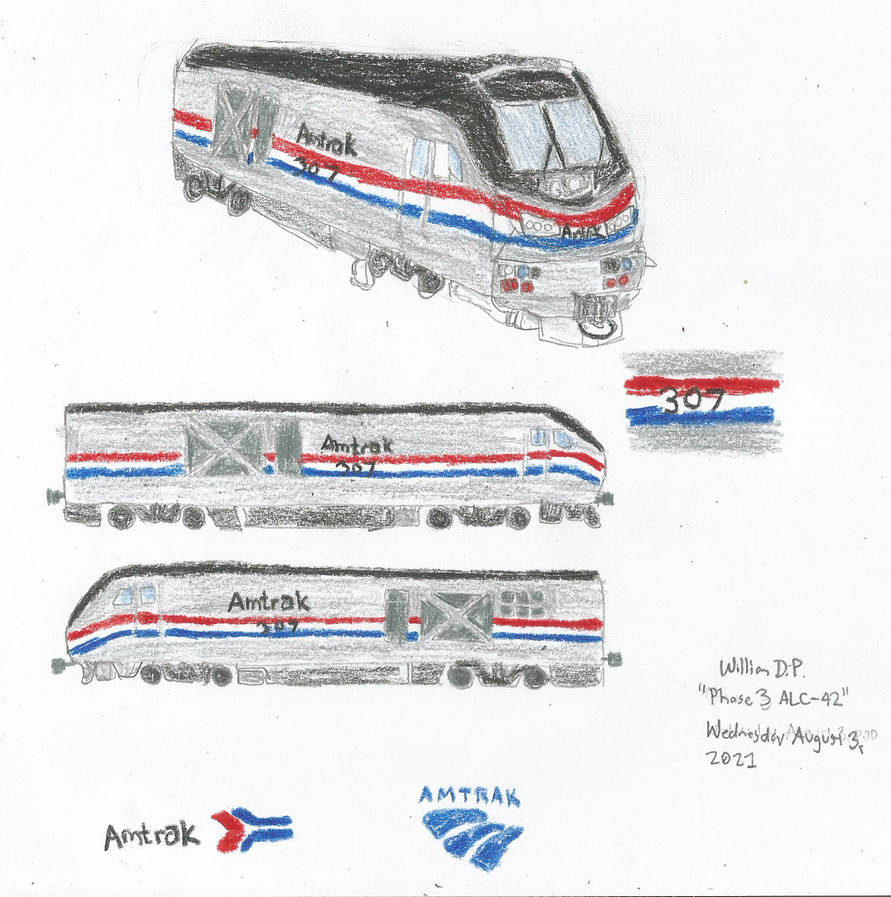 Amtrak ALC-42 Siemens Charger Drawings 1st Attempt