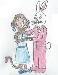 Monkey and Rabbit Couple