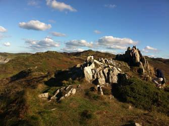 spikey rocks inland by HawkWinds