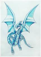 - Blue Eyes White Dragon - by BioV-xen