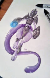 - Armored Mewtwo - by BioV-xen