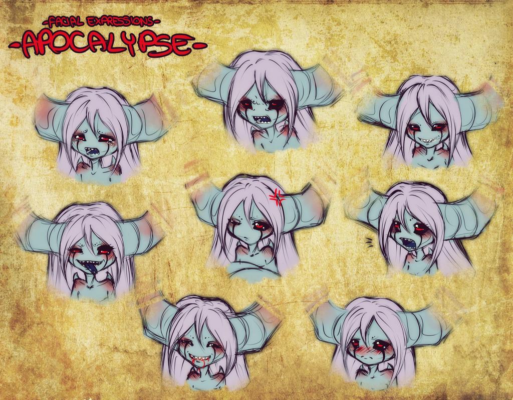 - Facial Expressions: Apocalypse - by BioV-xen